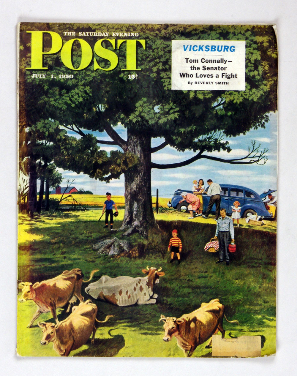 The Saturday Evening Post 1950 Jul 1 Pasture Picnic by Dohanos