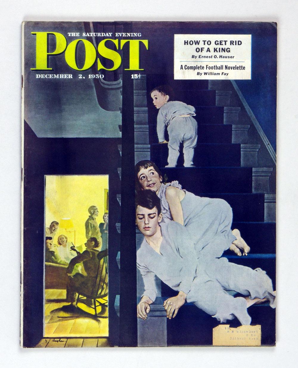 The Saturday Evening Post 1950 Dec 2 Kids on Steps