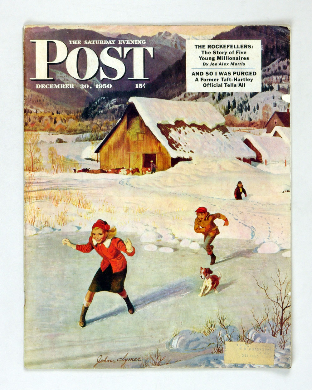 The Saturday Evening Post 1950 Dec 30 Playing on Ice