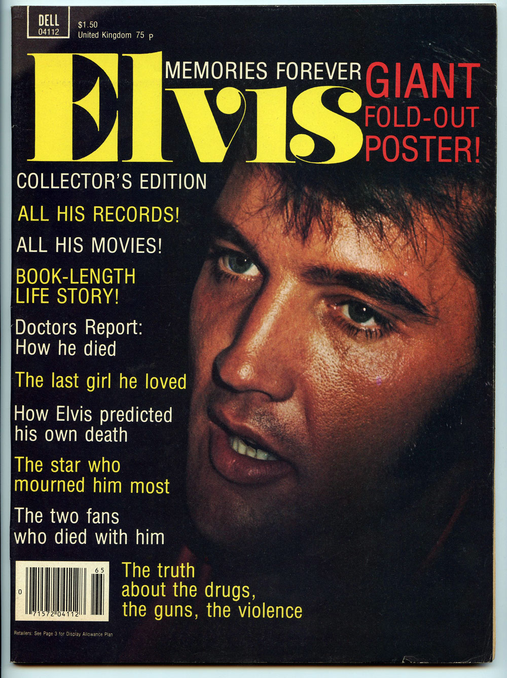 Elvis Presley Magazine back issue 1977 Elvis Presley Memories forever