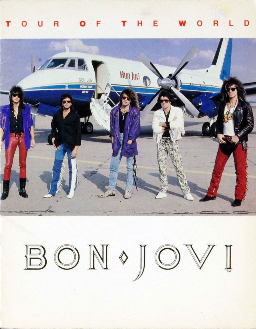 Bon Jovi Program book Tour Of The World Concert Tour 1986 - 1987