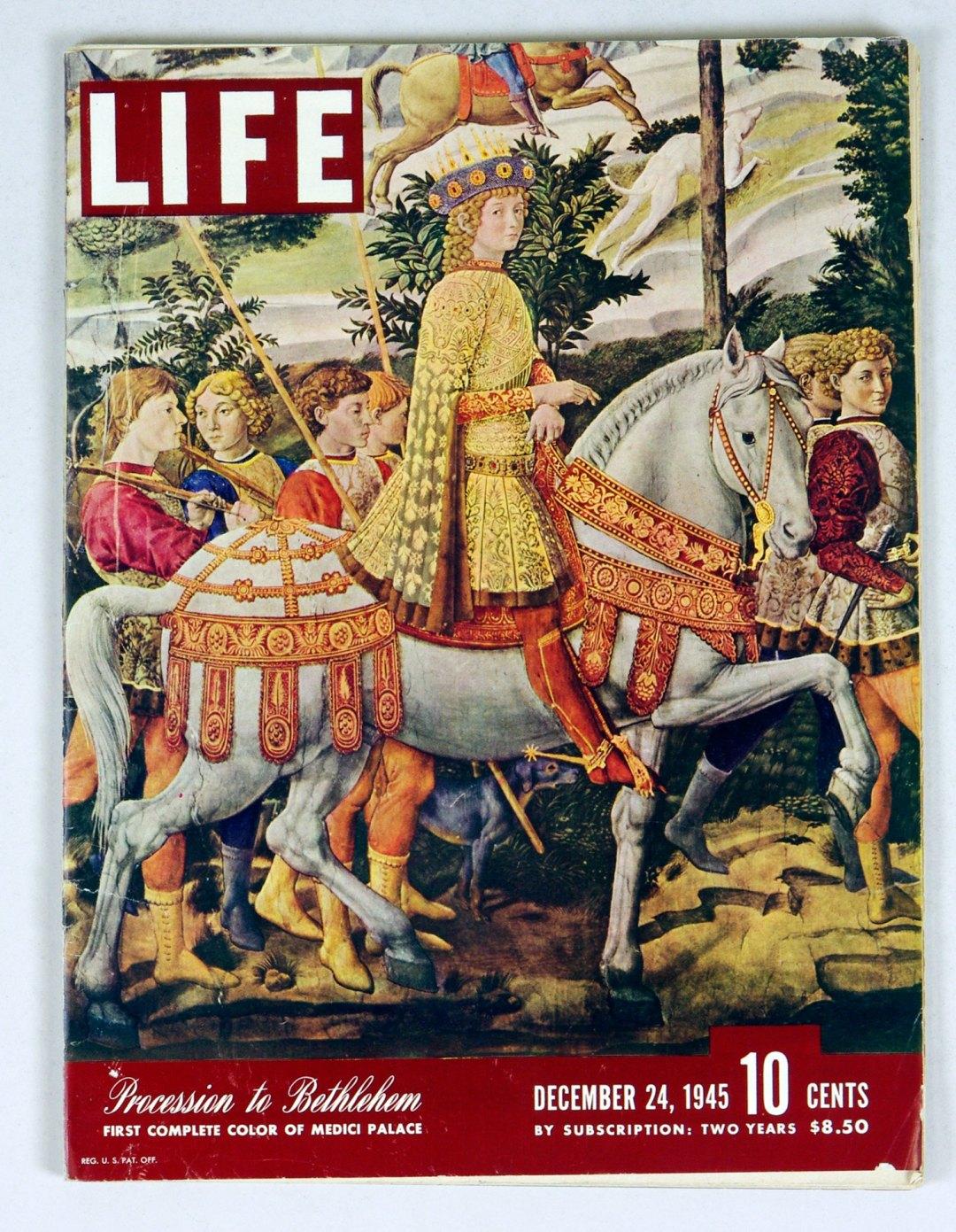 LIFE Magazine 1945 December 24 Medici Treasures