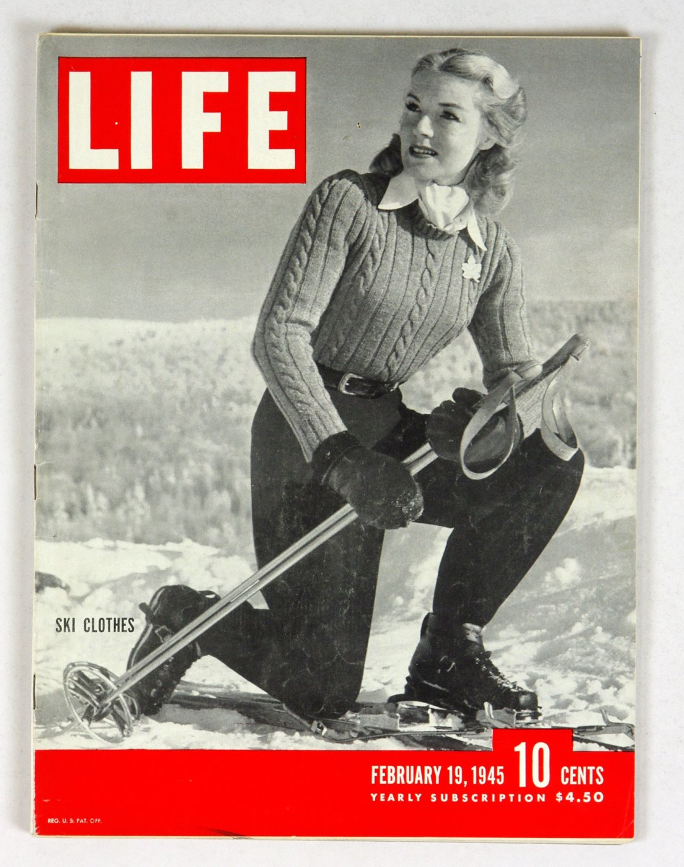 LIFE Magazine 1945 February 19 Ski Clothes