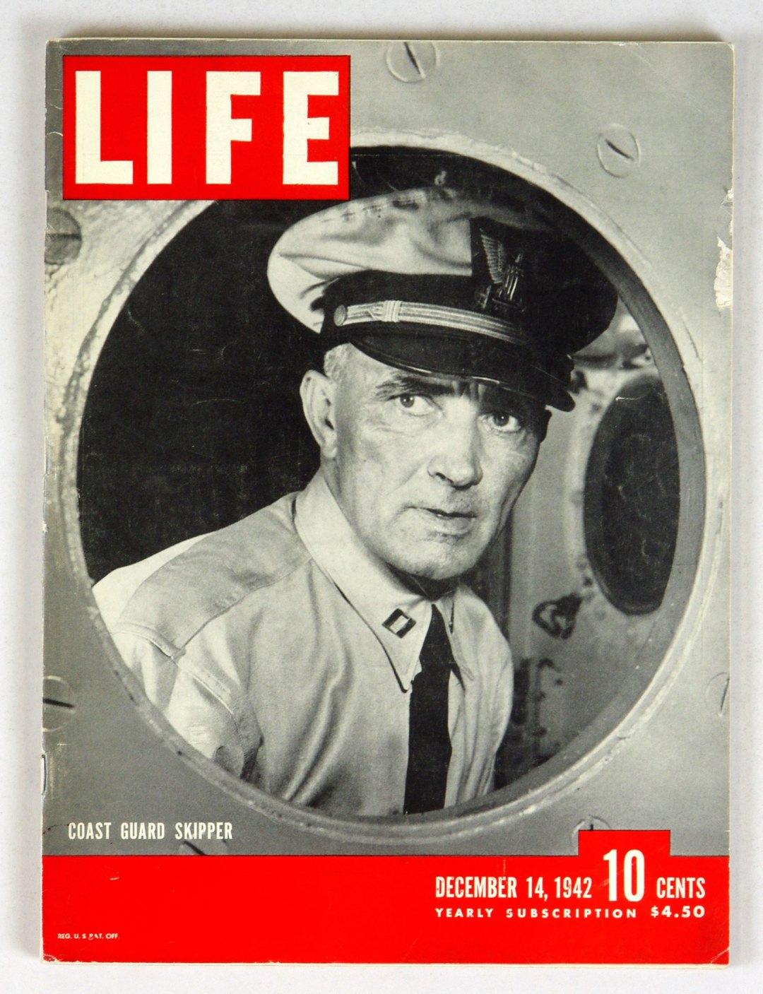 LIFE Magazine 1942 December 14 Coast Guard Skipper