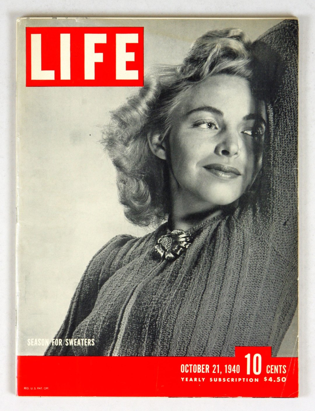 LIFE Magazine 1940 October 21 Season for Sweaters