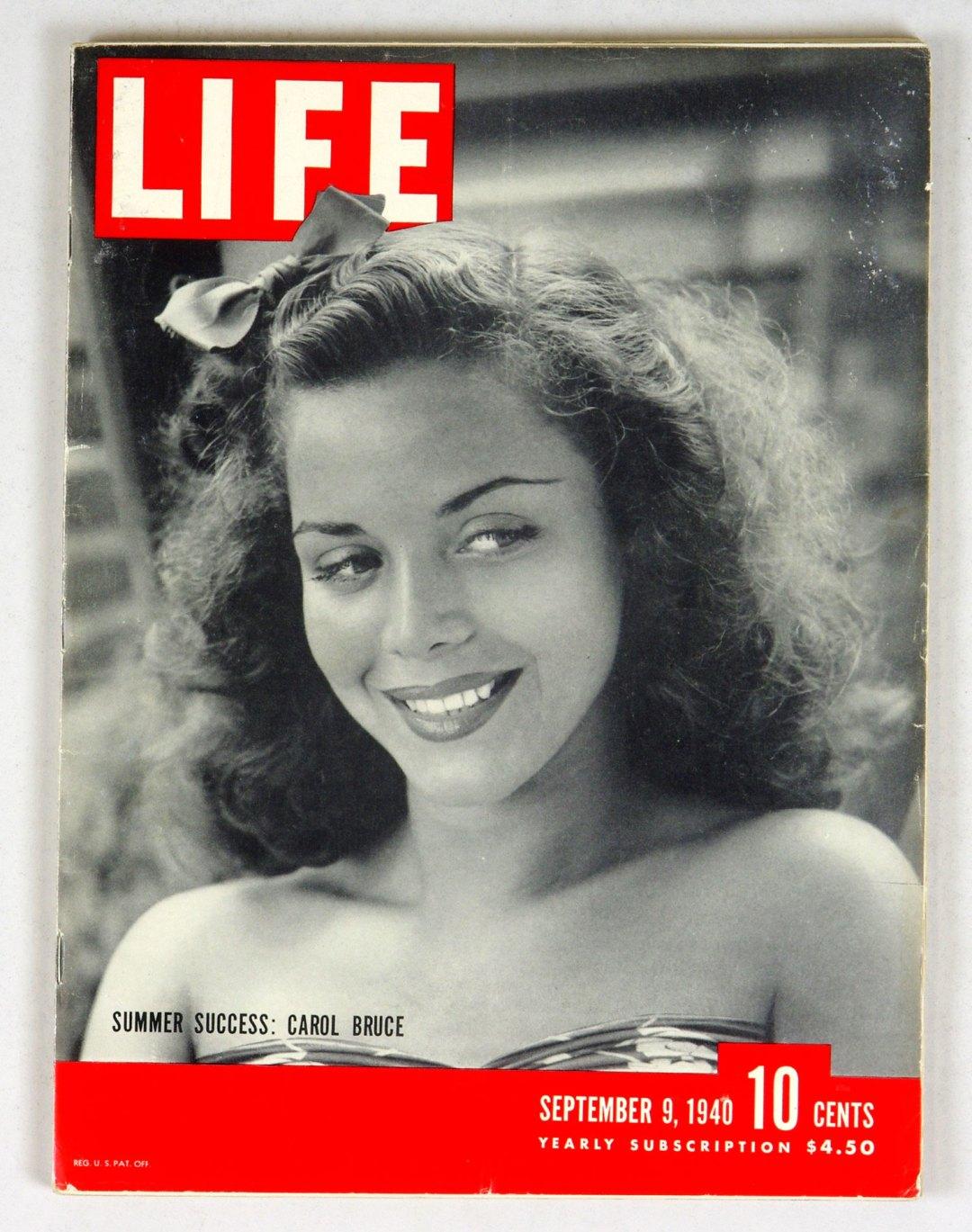 LIFE Magazine 1940 September 9 Summer Success Carol Bruce