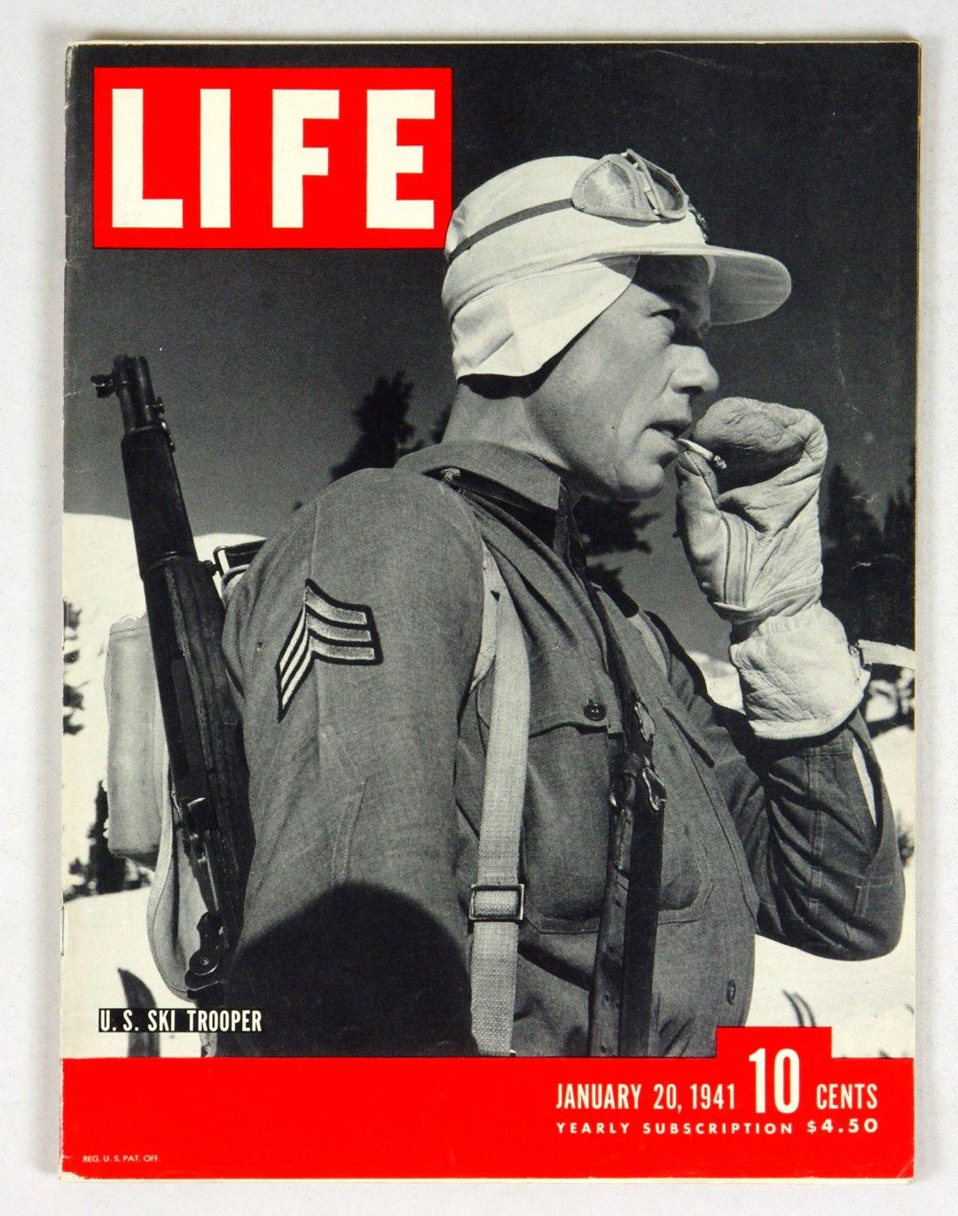 LIFE Magazine 1941 January 20 US Ski Trooper