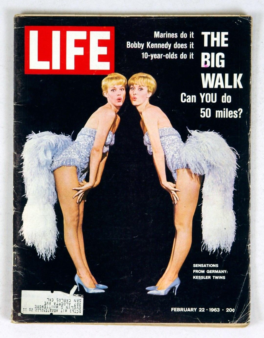 LIFE Magazine 1963 February 22 Sensations from Germany Kessler Twins