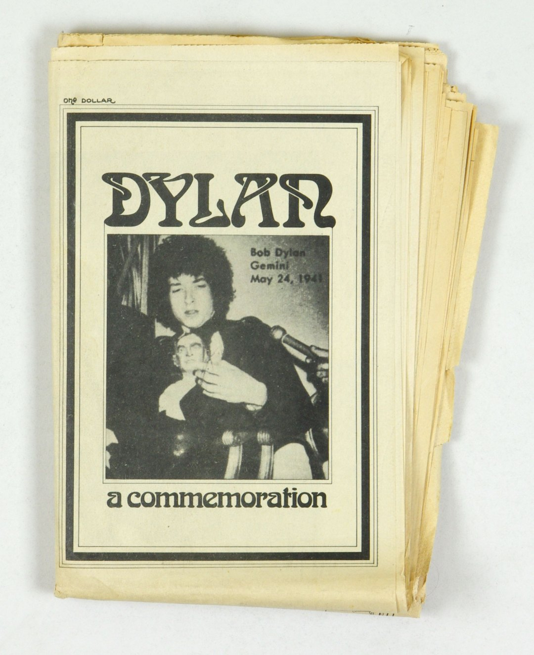Bob Dylan Magazine A Commemoration 1971 Apr 1st Edition Stephen Pickering
