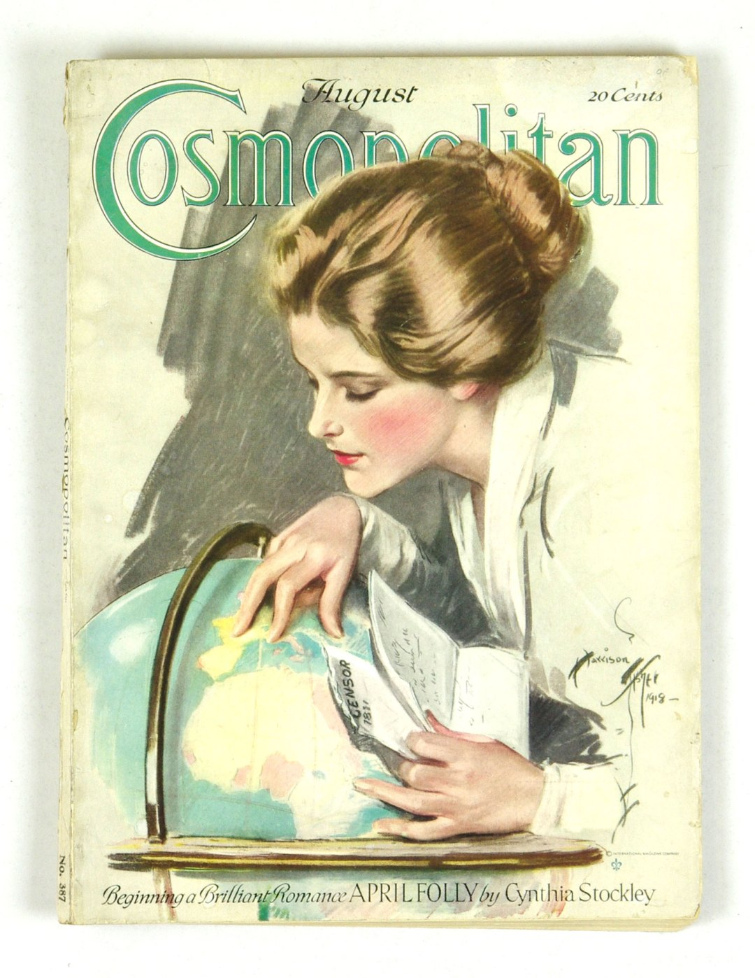 Cosmopolitan Magazine Back Issue 1918 Aug Harrison Fisher Somewhere In France