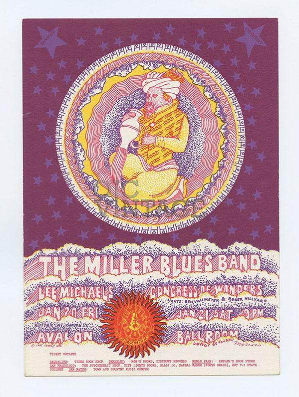 Family Dog 044 Postcard Water Bearer 1967 Feb 10 Miller Blues Band Lee Michaels