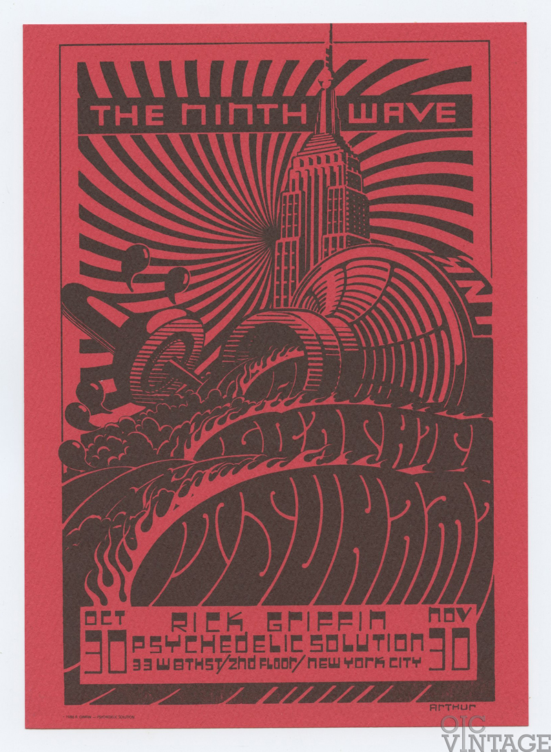Rick Griffin Postcard THE NINTH WAVE Exhibition 1986 Oct 20