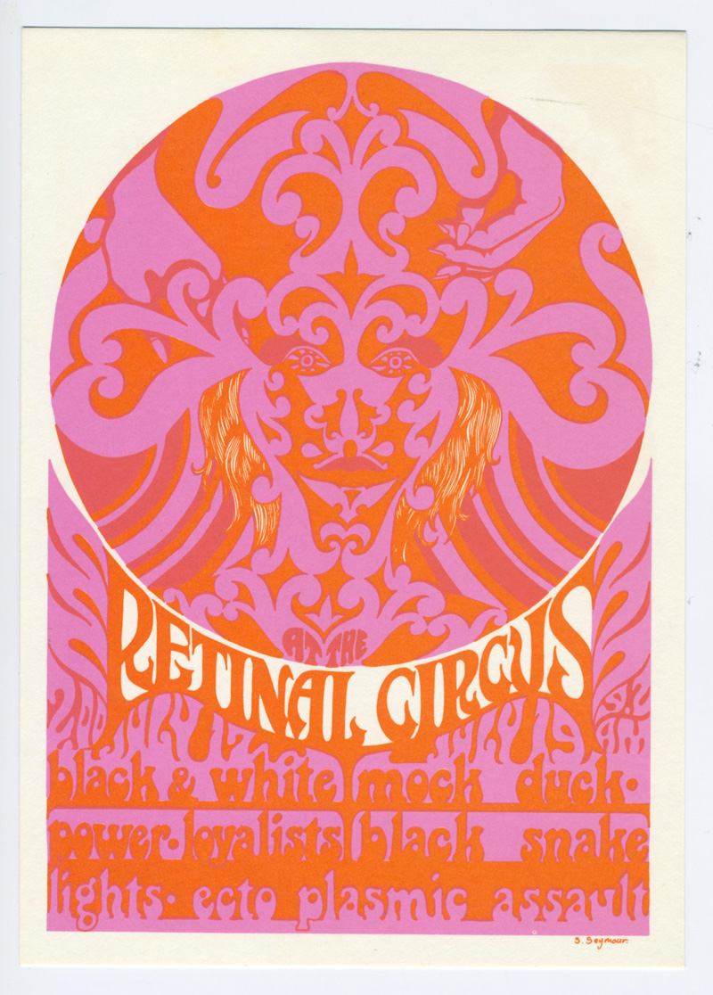 Retinal Circus Postcard 1967 Jul 17 Black and White Power The Loyalist Vancouver Canada