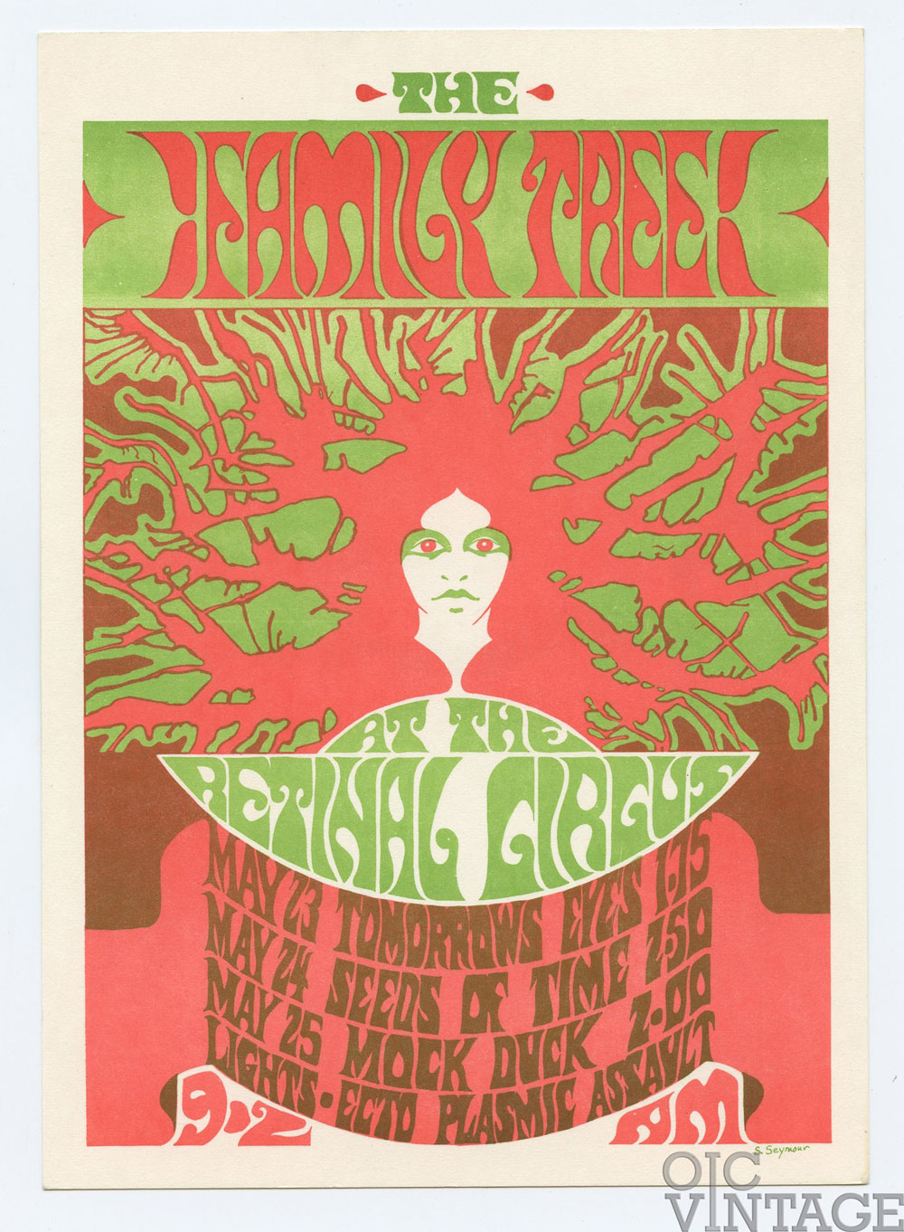 Retinal Circus Postcard 1968 May 23 Family Tree Tomorrow's Eyes Vancouver Canada