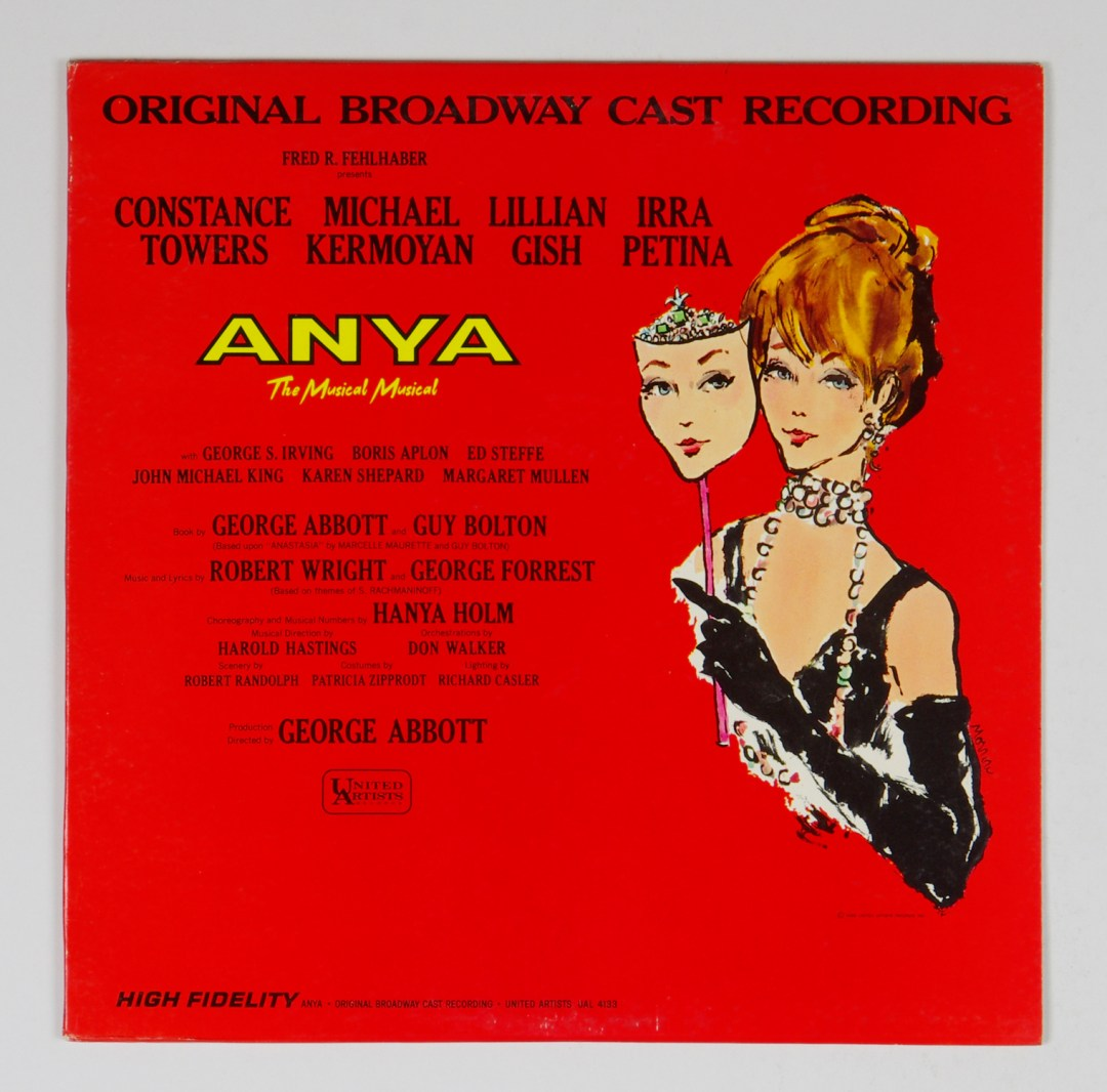 Anya Vinyl LP Original Broadway Cast Recording MONO 1965
