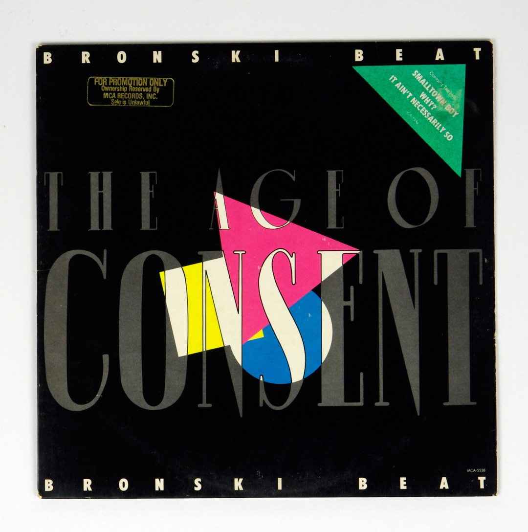 Bronski Beat Vinyl LP The Age Of Consent 1984 Promo Only