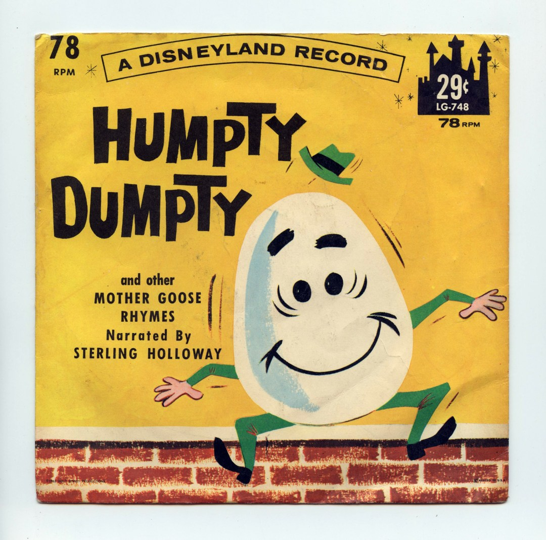 Disney Humpty Dumpty And Other Mother Goose Rhymes Vinyl 1962