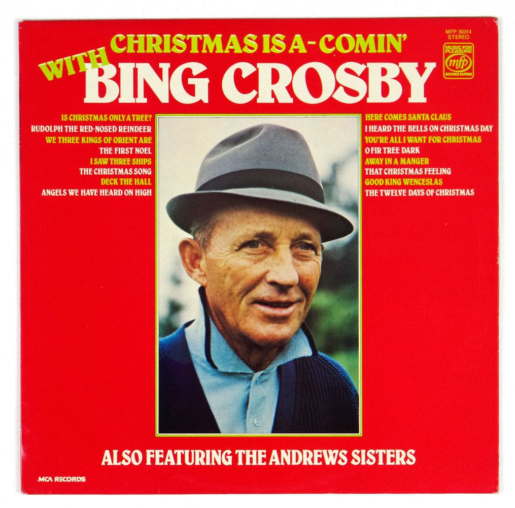 Bing Crosby Vinyl LP Christmas Is A-Comin' With 1973