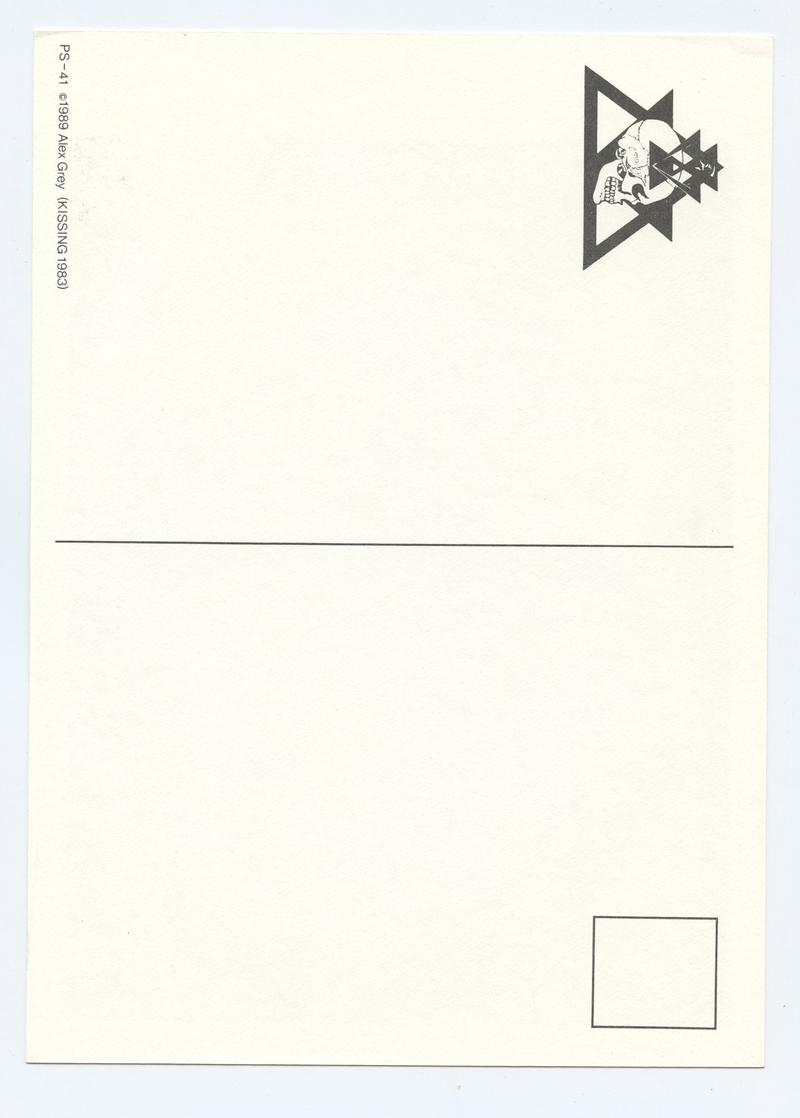 Alex Gray Postcard 1989 KISSING