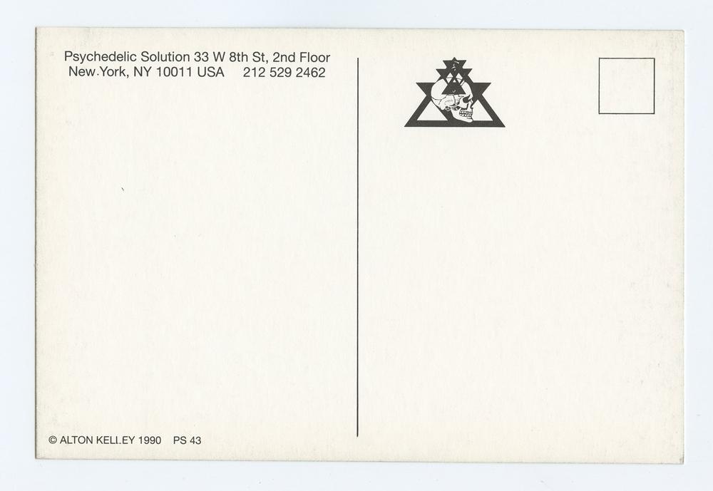 Alton Kelley Postcard PSYCHEDELIC SOLUTION 1990