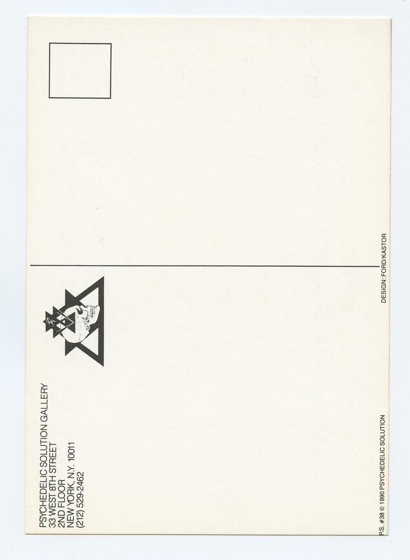 Cristobal Gonzaiea Postcard WIRKUTA Show 1990 Jun 1