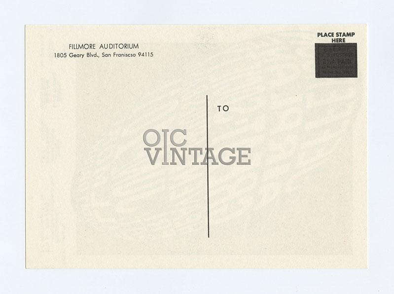 Bill Graham  10 Postcard Jefferson Airplane Great Society 1966 Jun 10