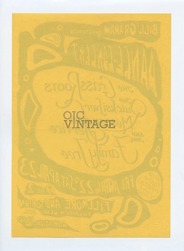 Bill Graham 0 Handbill Grass Roots Quicksilver Messenger Service 1966 Apr 22