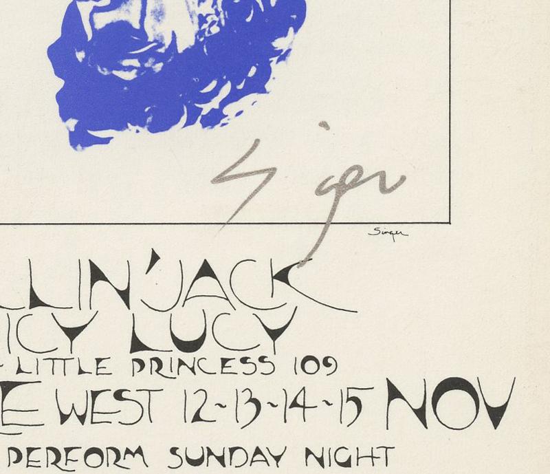 BG 256 Postcard Kinks Elton John 1970 Nov 12 David Singer signed