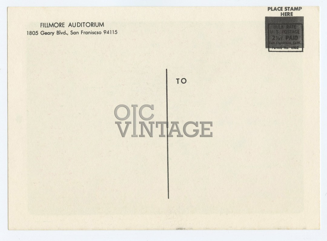 Bill Graham  12 Postcard THEM Great Society 1966 Jun 23