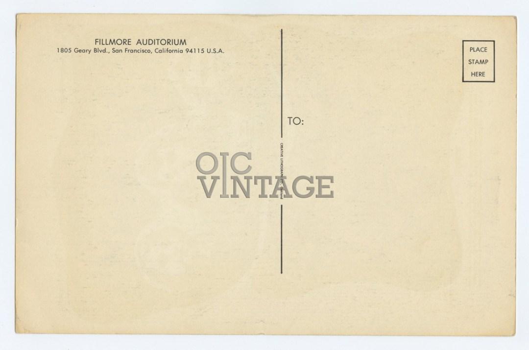Bill Graham 024 Postcard Young Rascals Quicksilver Messenger 1966 Aug 19