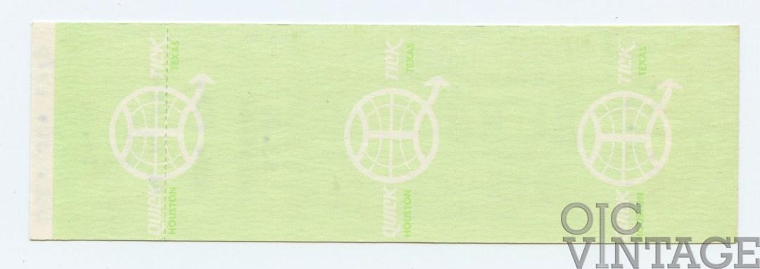 AL KOOPER Ticket 1976 Dec 30 Armadillo World Headquarters unused
