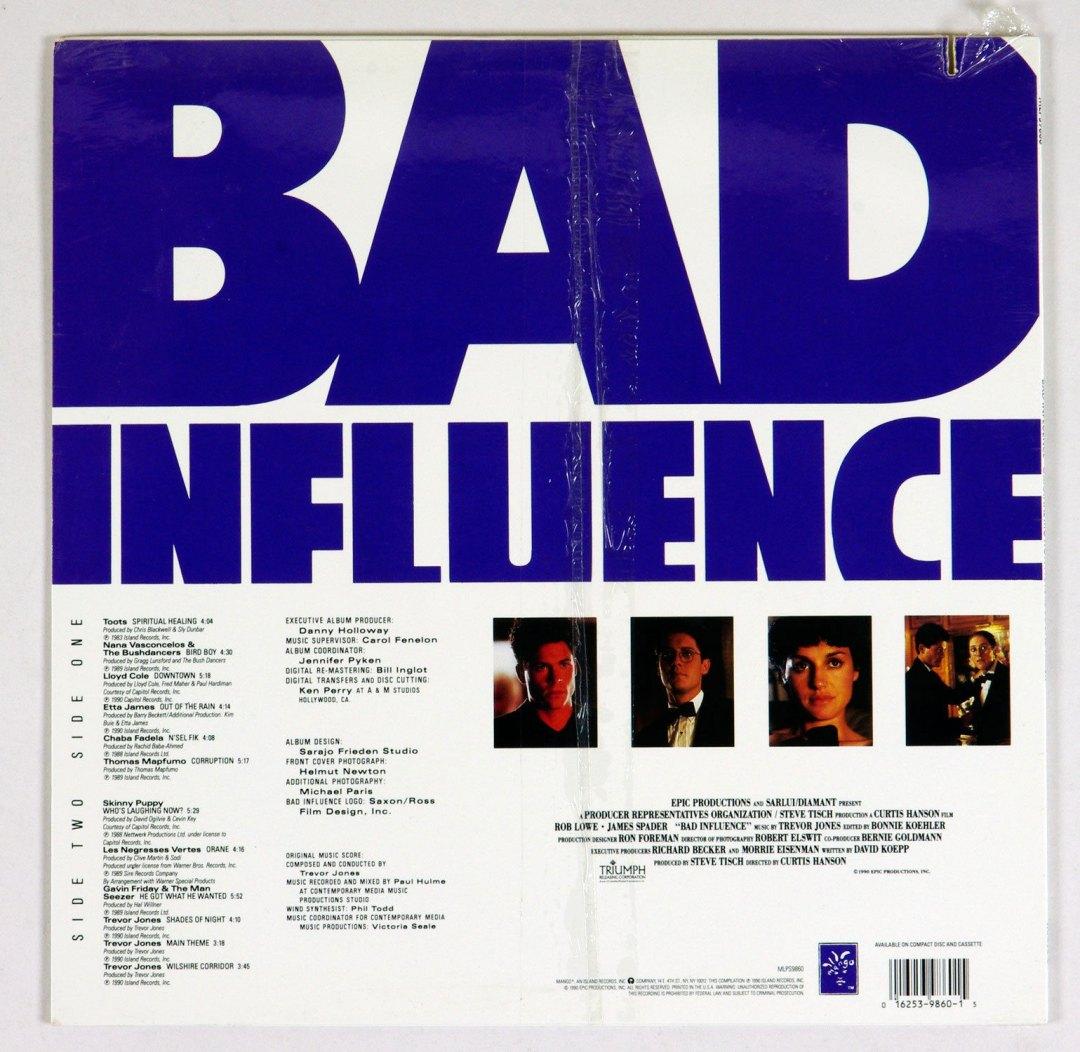 Bad Influence OST Vinyl LP Sealed NEW 1990