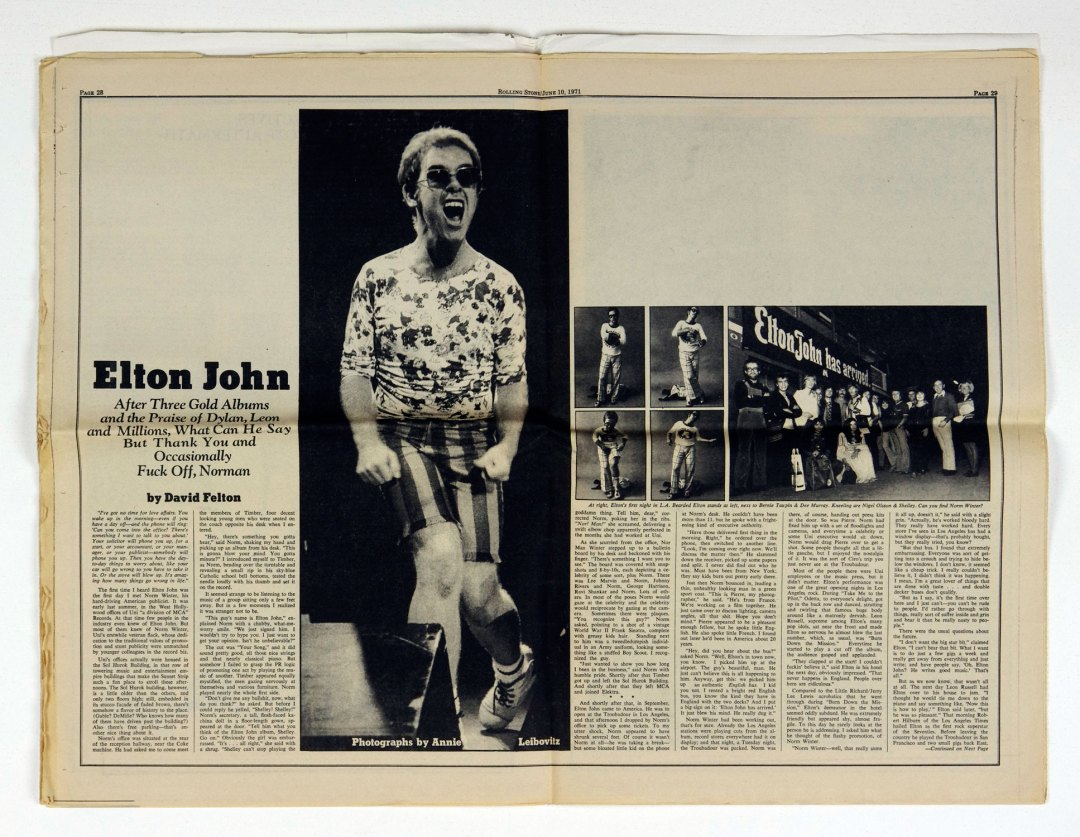 Rolling Stone Magazine 1971 Jun 10 No. 84 Elton John