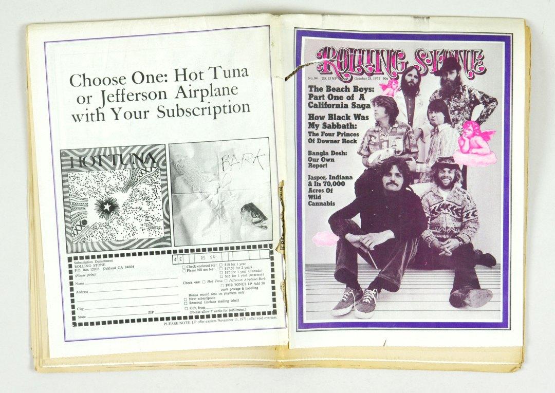 Rolling Stone Magazine 1971 October 28 No.94 The Beach Boys