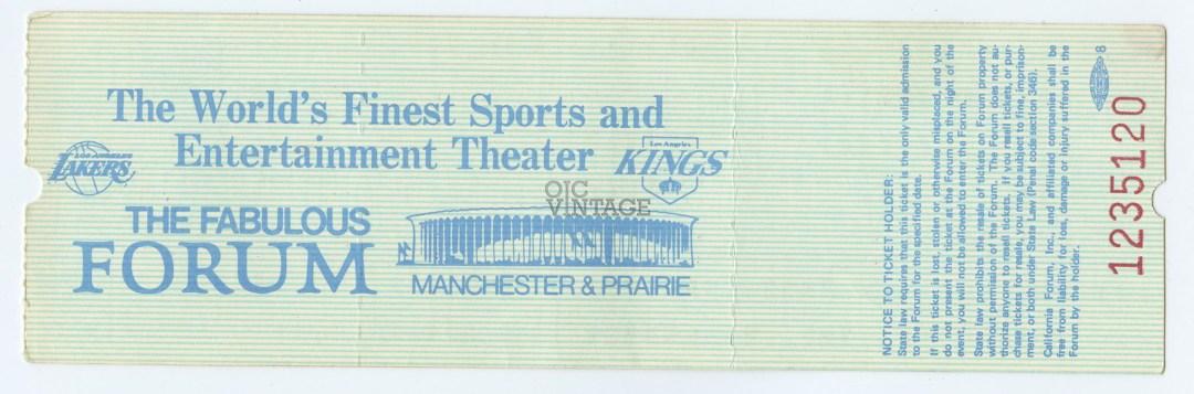 Bob Dylan Ticket  1978 Nov 15 Fabulous Forum Unused