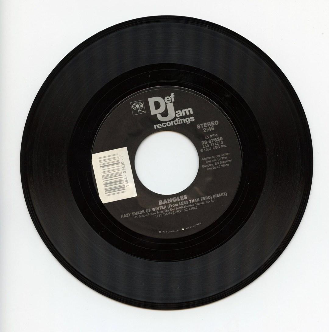 Bangles Vinyl Hazy Shade of Winter 1987