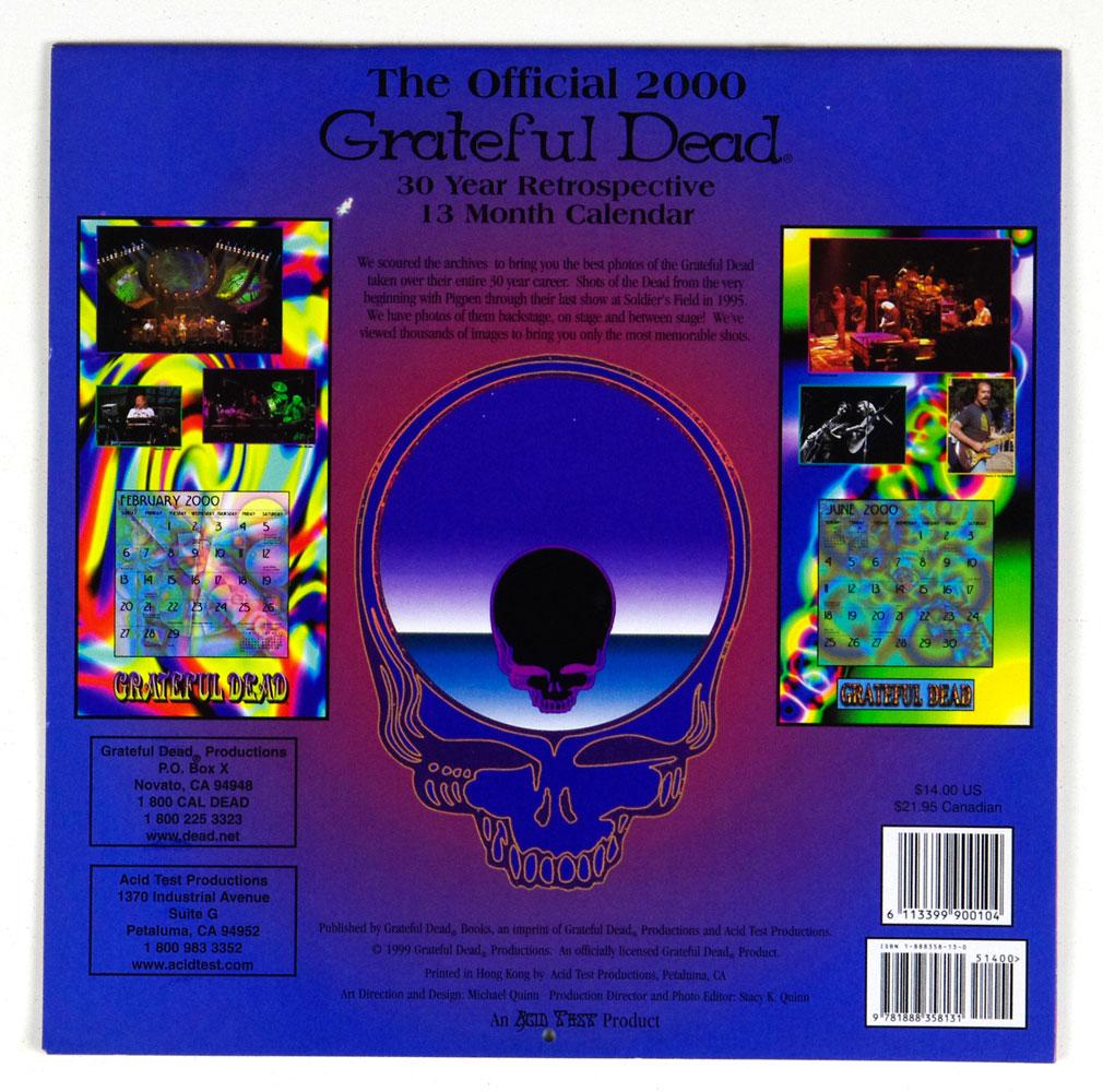 Grateful Dead The offical Calendar 2000 Retrospective