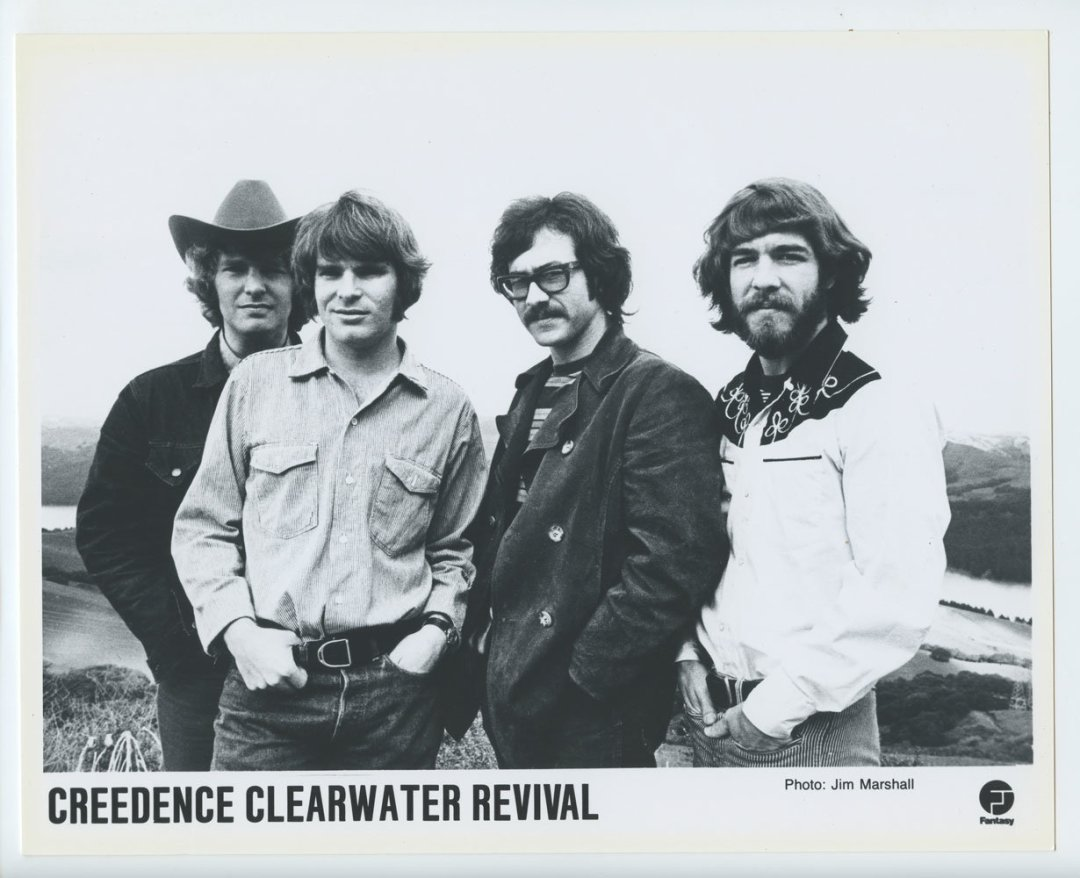 Credence Clearwater Revival Photo 1968 Fantasy Records Original Vintage