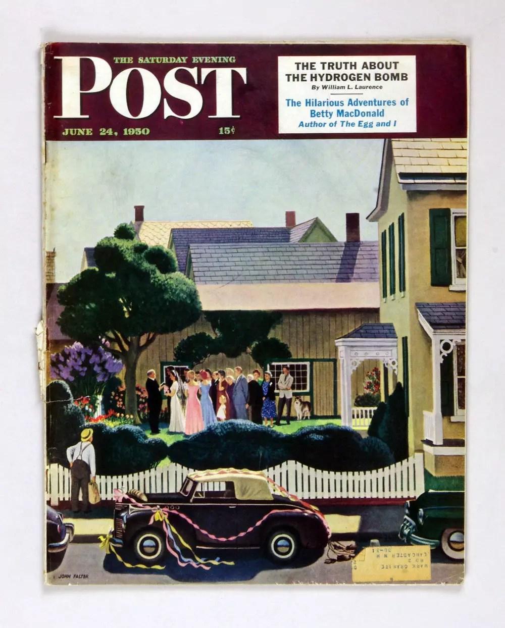 The Saturday Evening Post 1950 Jun 24 Outdoor Wedding