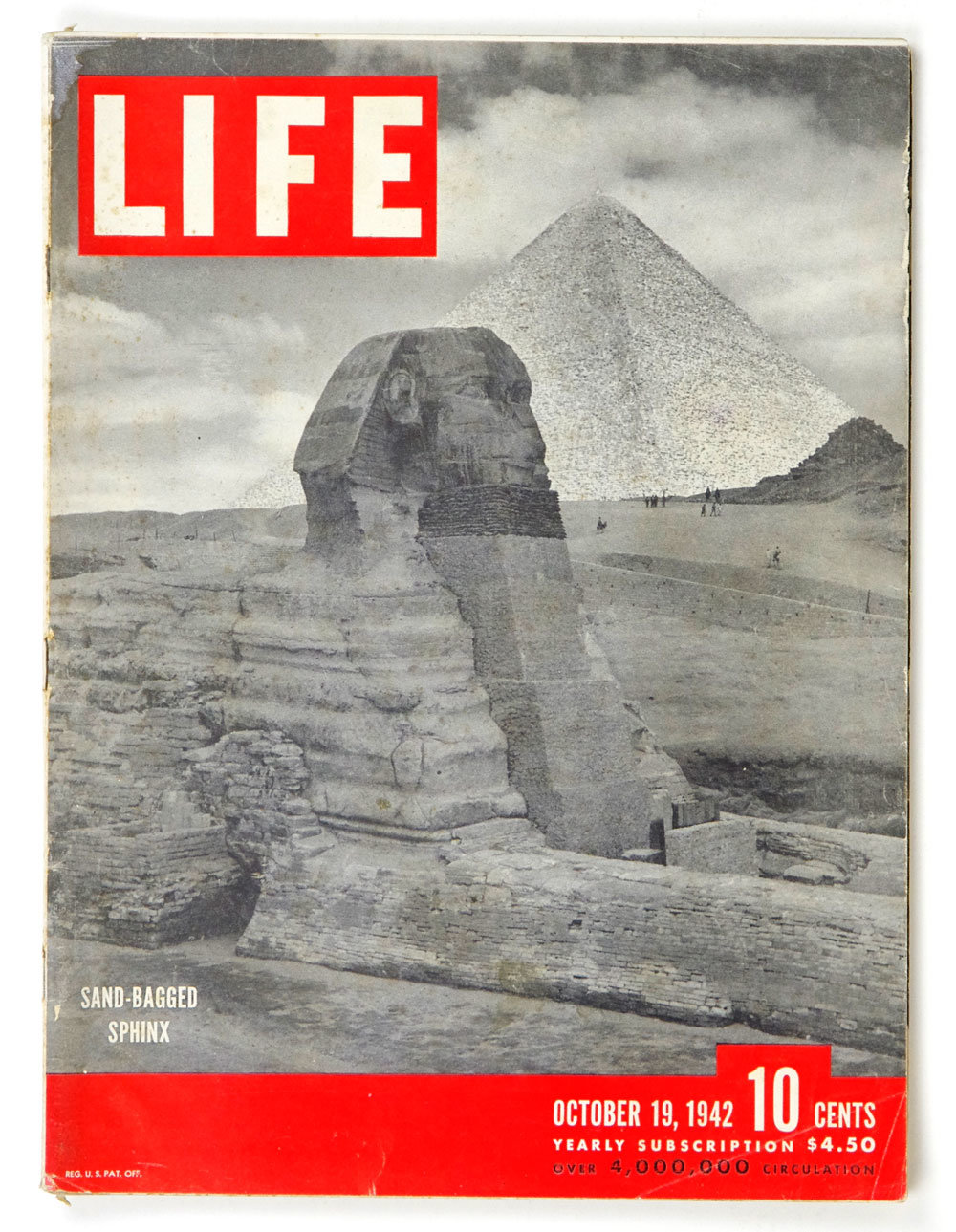LIFE Magazine 1942 October 19 Sand Bagged Sphinx