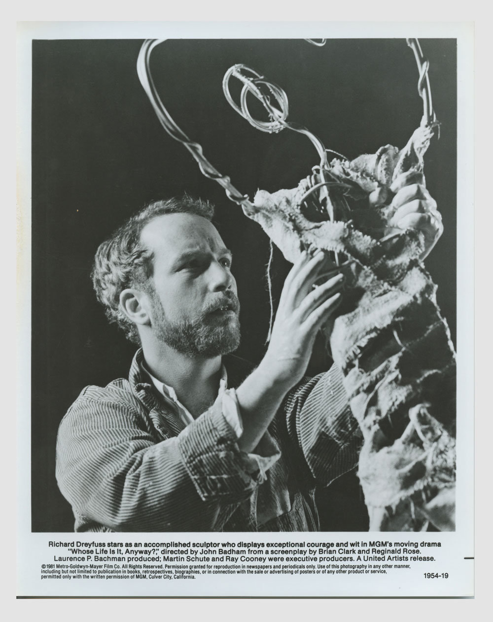 Richard Dreyfuss 1981 Whose Life Is It Anyway? 8x10 Lobby Card