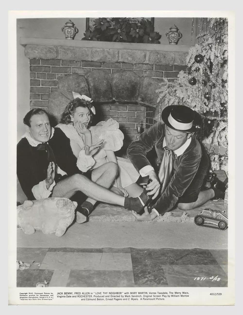 Jack Benny Fred Allen Mary Martin 1940 Love Thy Neighbor Lobby Card
