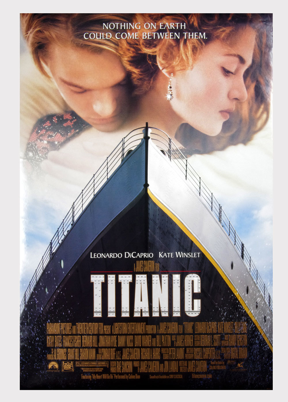Titanic Movie Poster Double sided 1997 Leonardo DiCaprio Kate Winslet 27 x 40