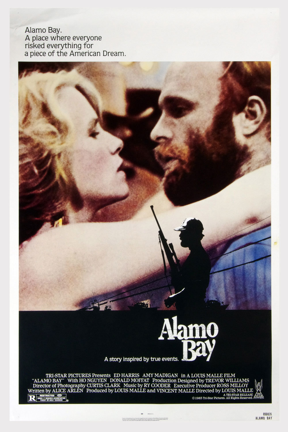 Alamo Bay Poster 1985 Ed Harris Amy Medigan 27 x 41 1 Sheet
