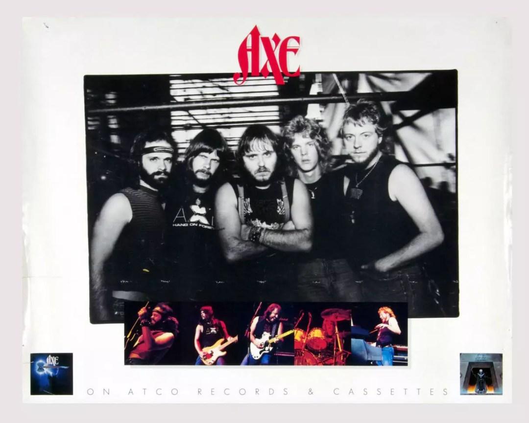 AXE Poster Nemesis 1983 New Album Promo 26 x 20
