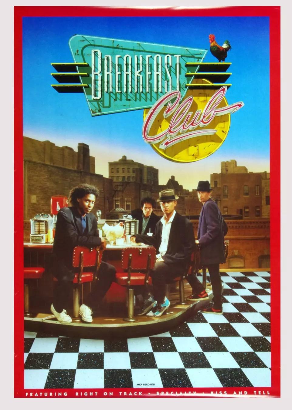 Breakfast Club Poster self titled 1987 New Album Promo 24 x 36