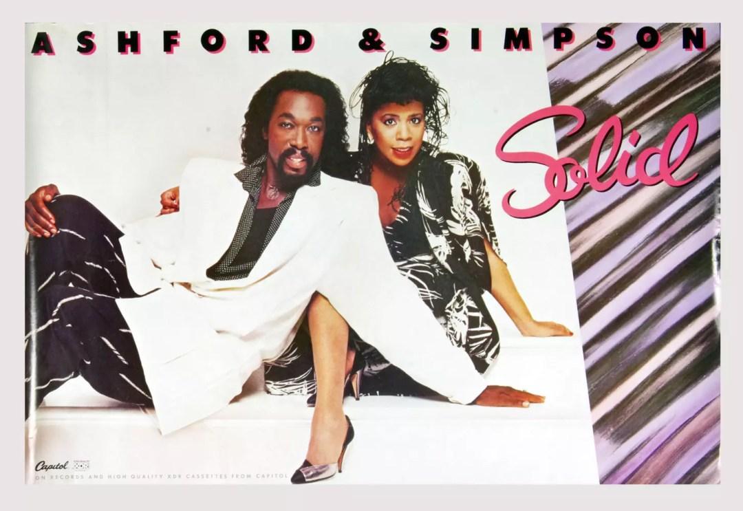 Ashton and Simpson Solid Poster 1984 New Album Promo 24 x 36