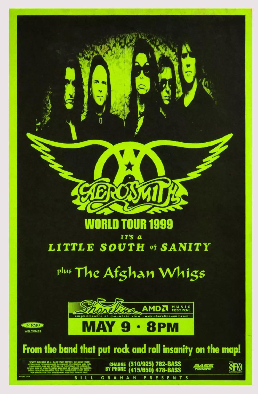 Aerosmith Poster World Tour 1999 May 9 Shoreline Amphitheatre