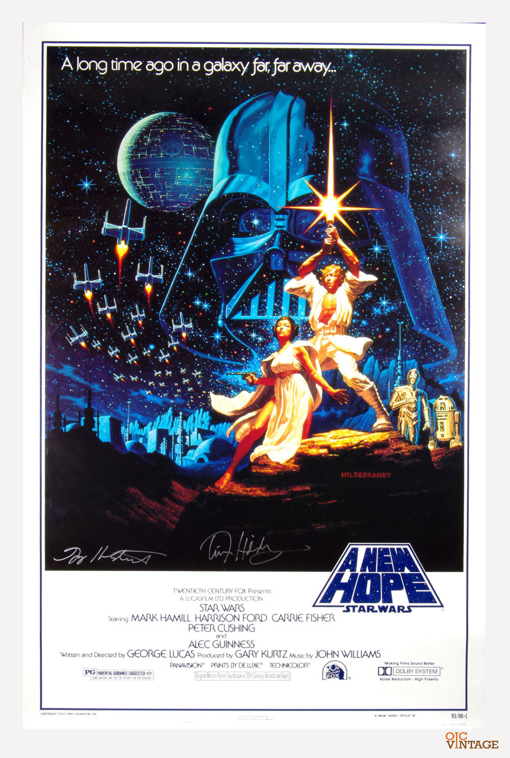 Star Wars Poster A New Hope 15th Anniversary Greg Tim Hildebrandt Signed