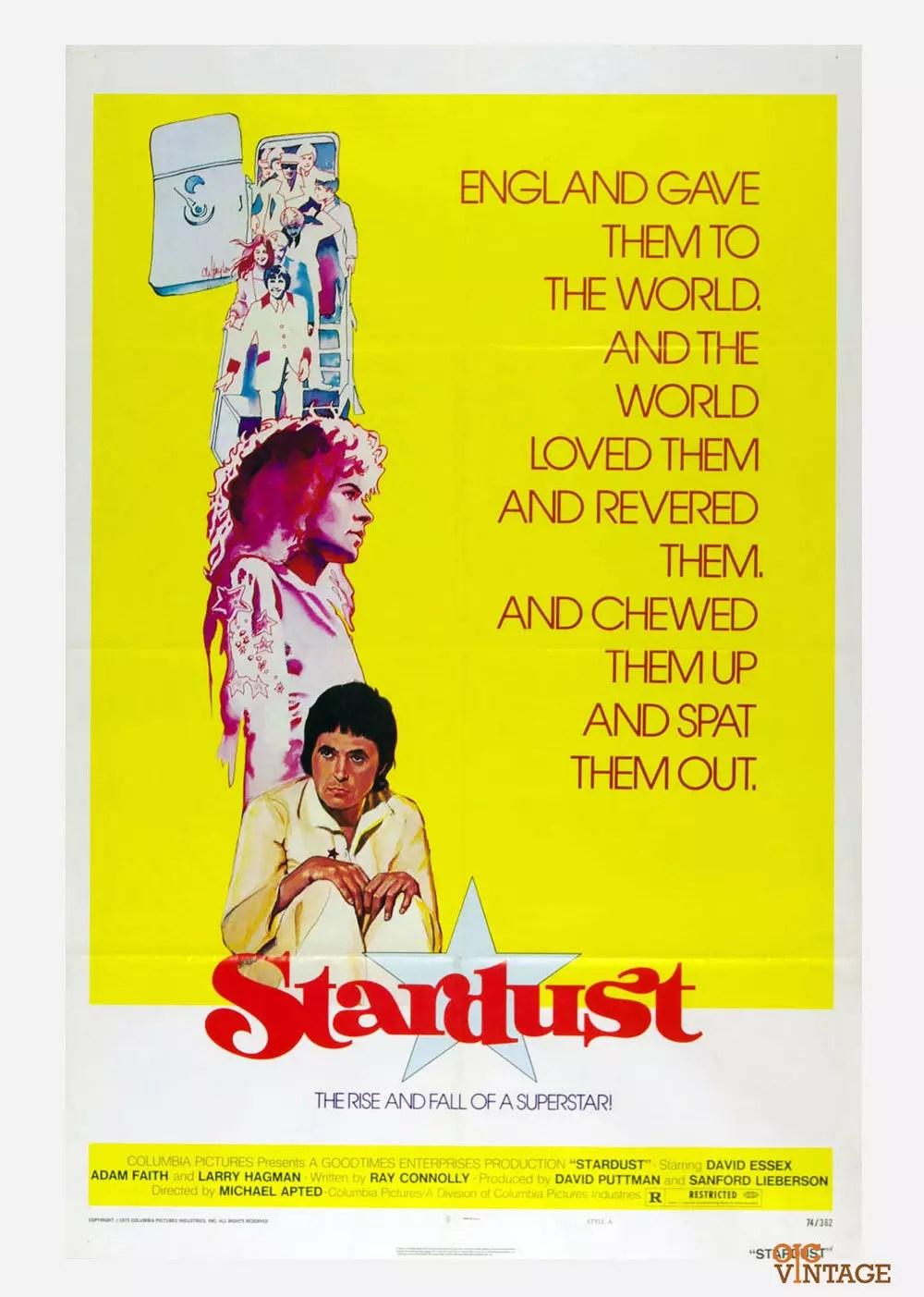 Stardust Movie Poster 1974 David Essex Adam Faith  27 x 41 1 Sheet
